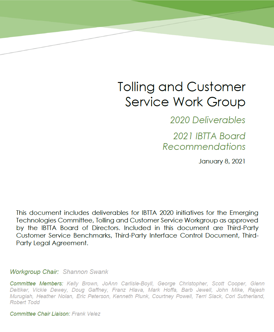 2020 Tolling & Customer Service White Paper