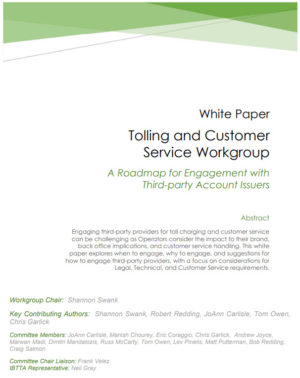 Tolling Customer Management White Paper 2019